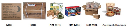 Military and Civilian MREs