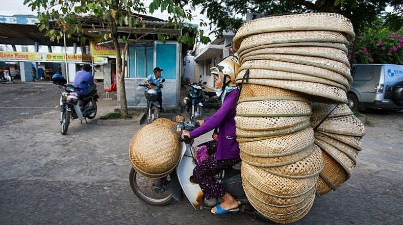 Bicicletas de Carga: Increíbles fotos de las más insanamente sobrecargadas motos en Vietnam