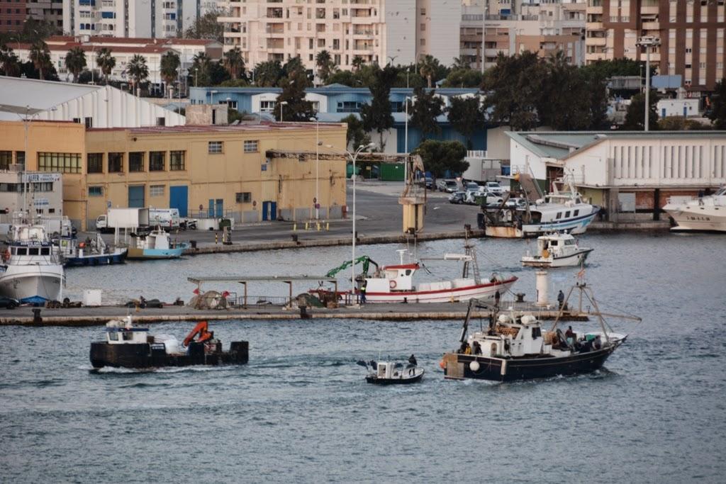 Port of Malaga Fisher boats
