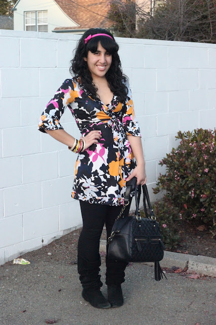 Wearing Florals During Winter