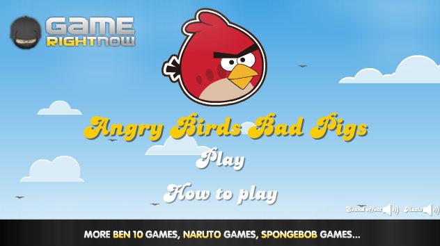 لعبة الطيور الغاضبة - Angry Birds