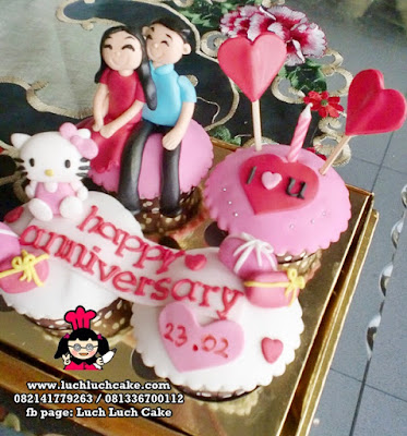 Hello Kitty Anniversary Cupcake
