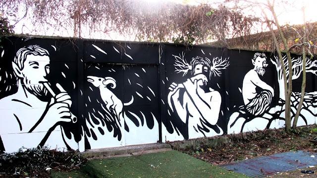 """Panismo"" New Street Art Piece By Italian Artist MP5 In Torino. 8"
