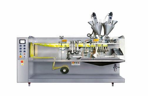 horizontal sachet packing machine for liquid&sauce horizontale Verpackungsmaschine fuer Flüssigkeit
