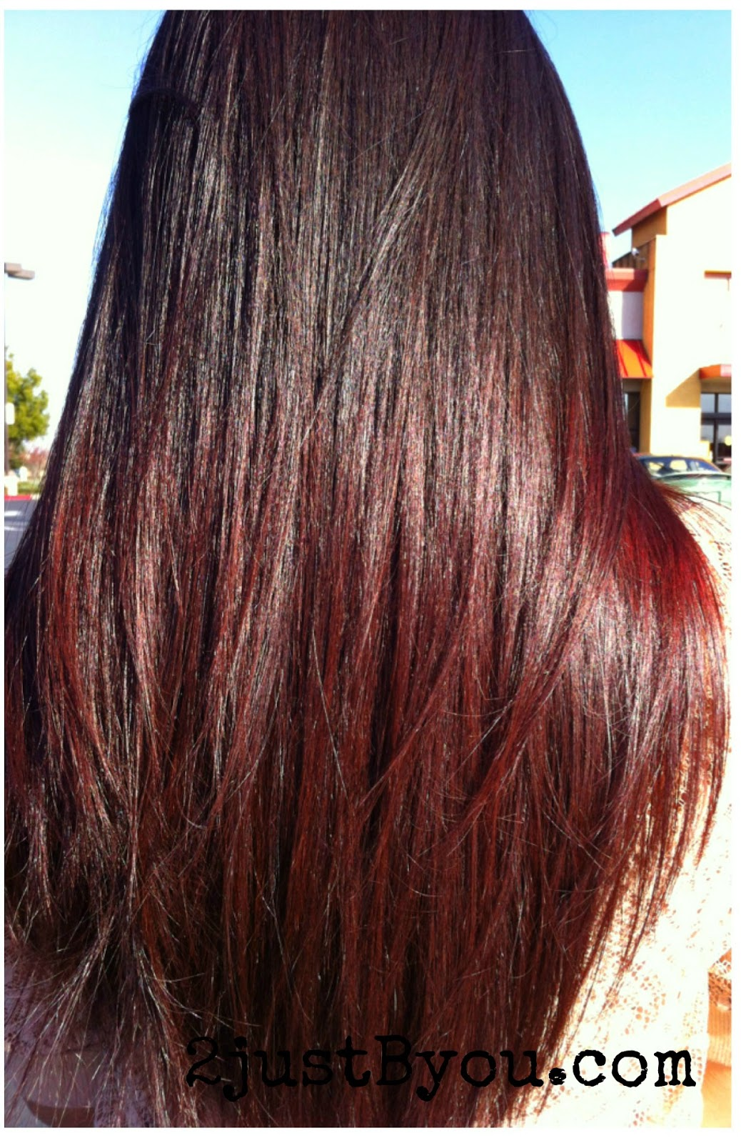 Heavy Red Ombre Hair Color