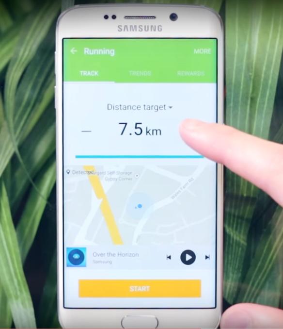 Use S Health Samsung Galaxy S6 Edge Plus
