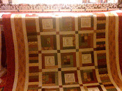 Log Cabin/Penny Squares Memory Quilt