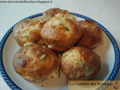 muffin salati alle zucchine prosciutto e provola