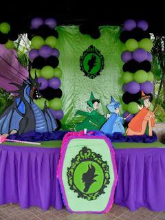 Fiestas Infantiles Decoradas con Malefica