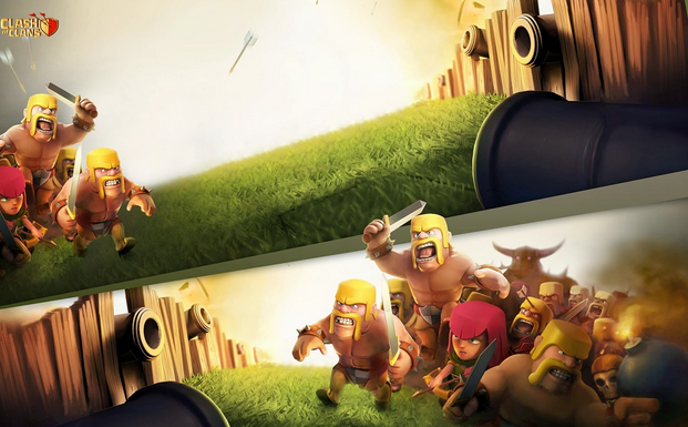 Wallpaper lucu HD Clash of Clans Untuk PC dan Android
