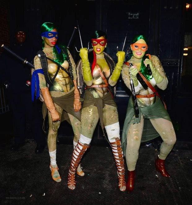 RIHANNA at Opus Nightclub Halloween Party in New York
