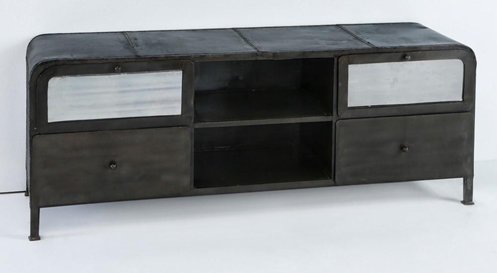 El blog de demarques 10 muebles para crear una decoracion for Mueble television industrial