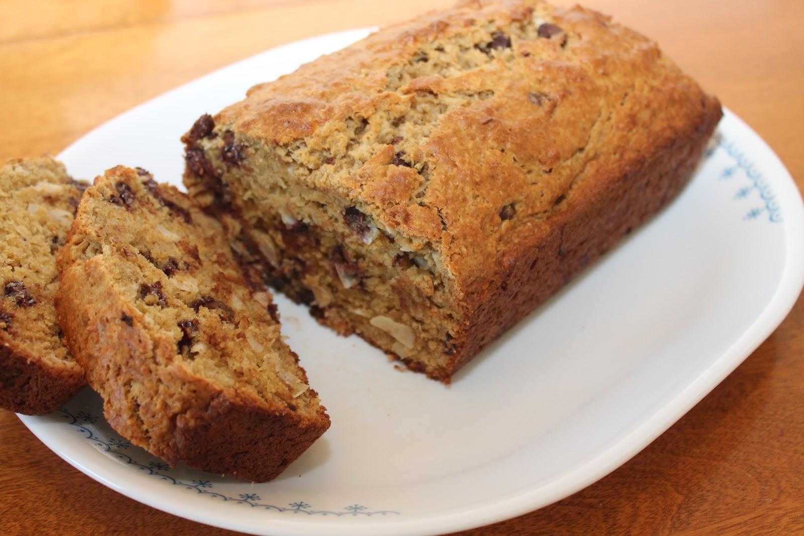 Savory Moments: Coconut chocolate chip banana bread