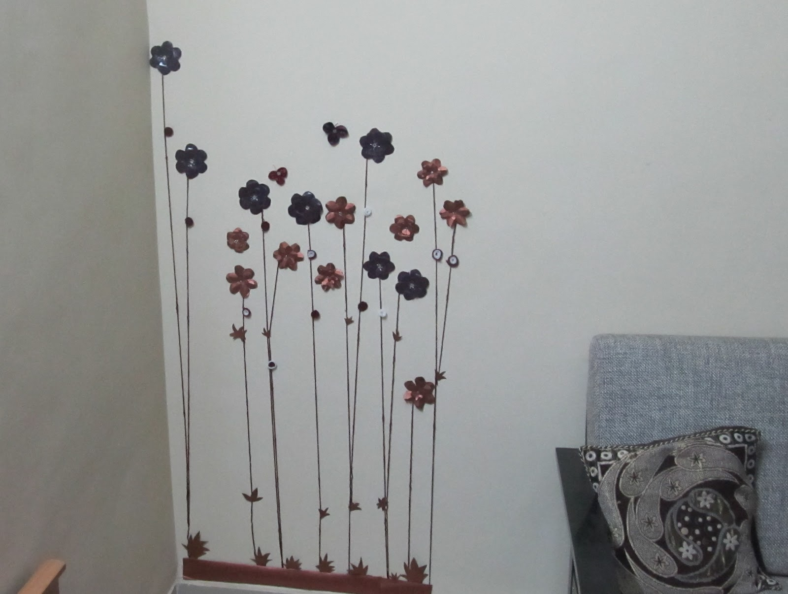 How To Make Wall Decoration Items : Creative ideas paper flower wall decor