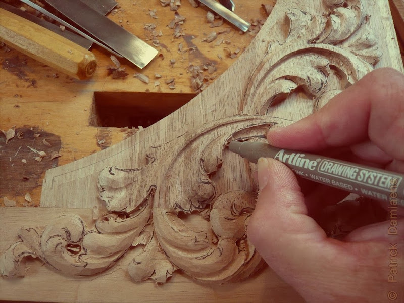 Wood Carving Acanthus Leaves In