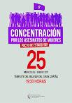 CONCENTRACIÓN: Por los asesinatos de mujeres