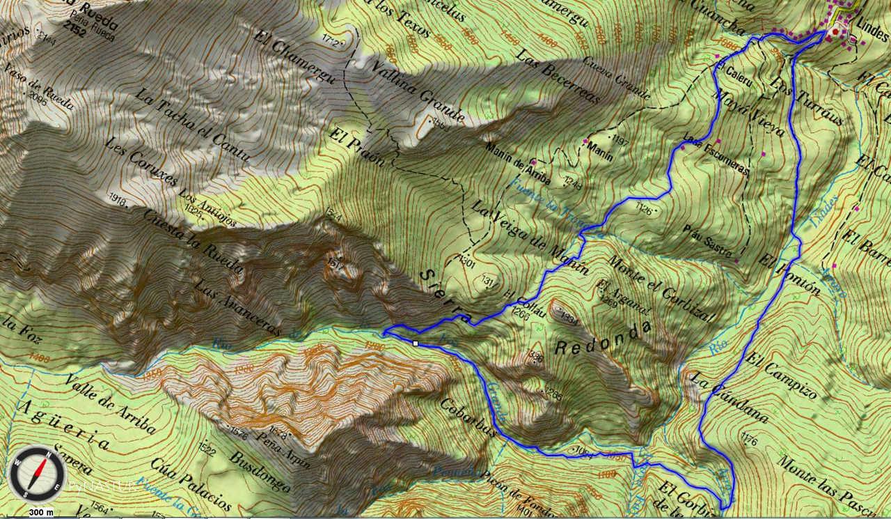Mapa 3 - Topográfico Bosque de Lindes