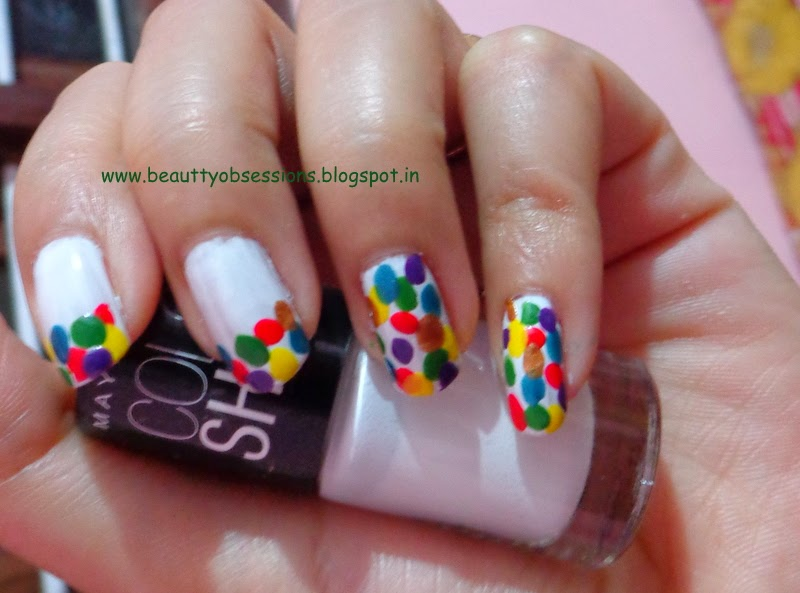 A Colorful Nail Art..