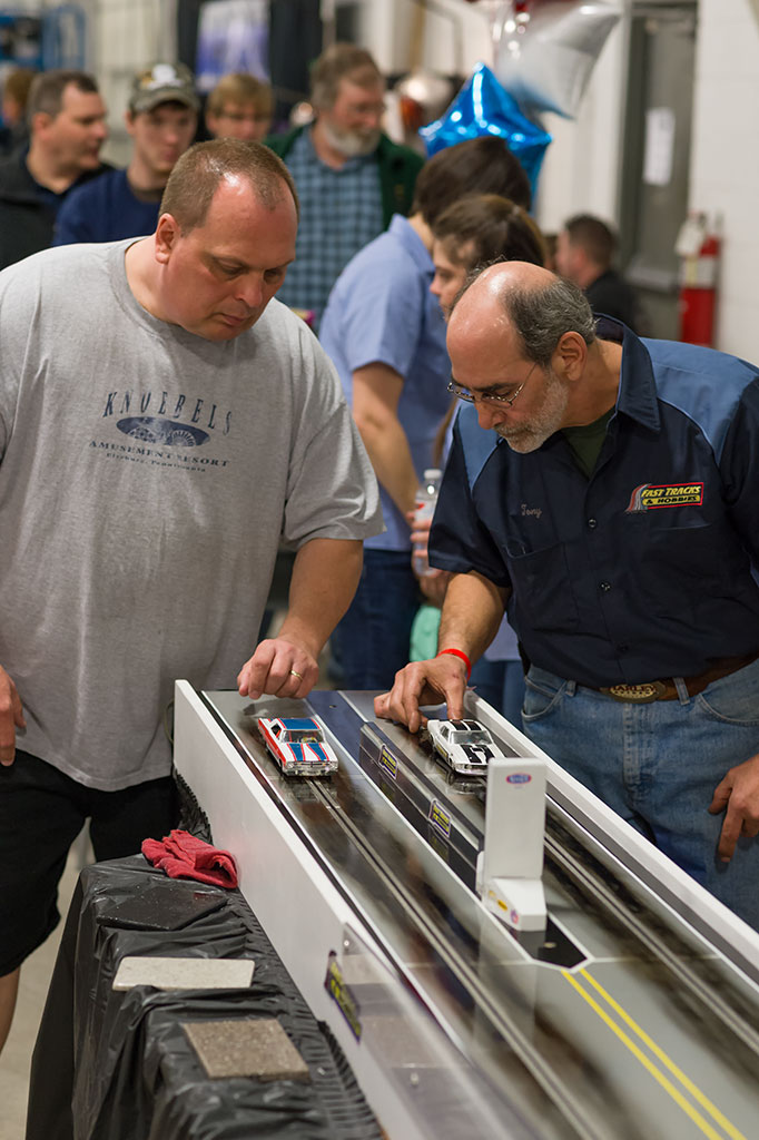 Slot Car action at the North East Rod and Custom Car Show