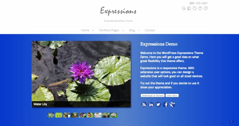 expressions wordpress photo theme
