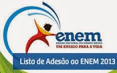 Universidades que aderiram ao ENEM 2013