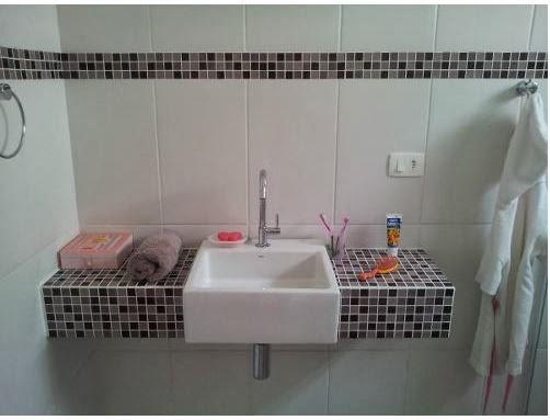 Ideia para uma bancada de banheiro bonita pratica e - Casas baratas para reformar ...
