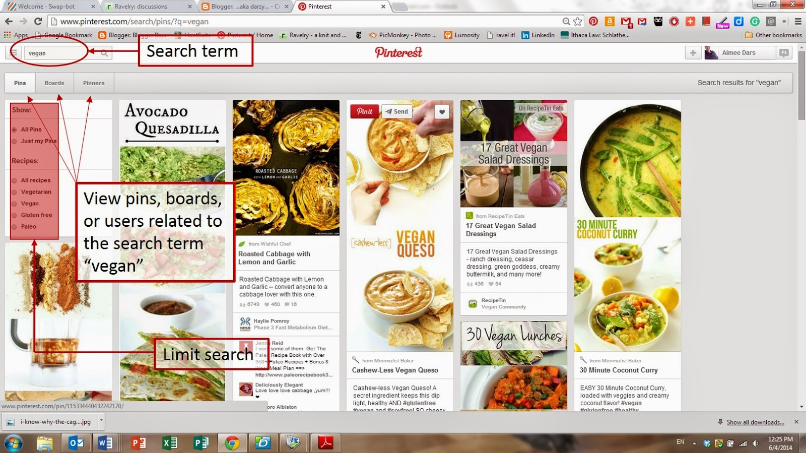 Tutorial for searching on pinterest