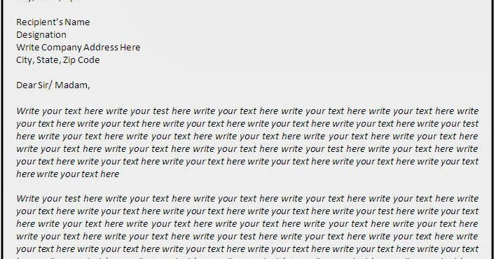 business letter format for quotation