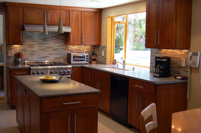 Best kitchen interior design ideas simple modern wood kitchen for Simple modern kitchen cabinets