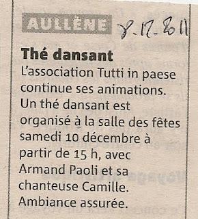 Thé dansant 12 2011