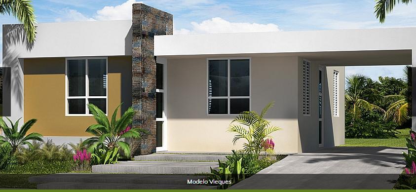 Fachadas de casas 1 planta imagui for Fachadas de casas modernas puerto rico
