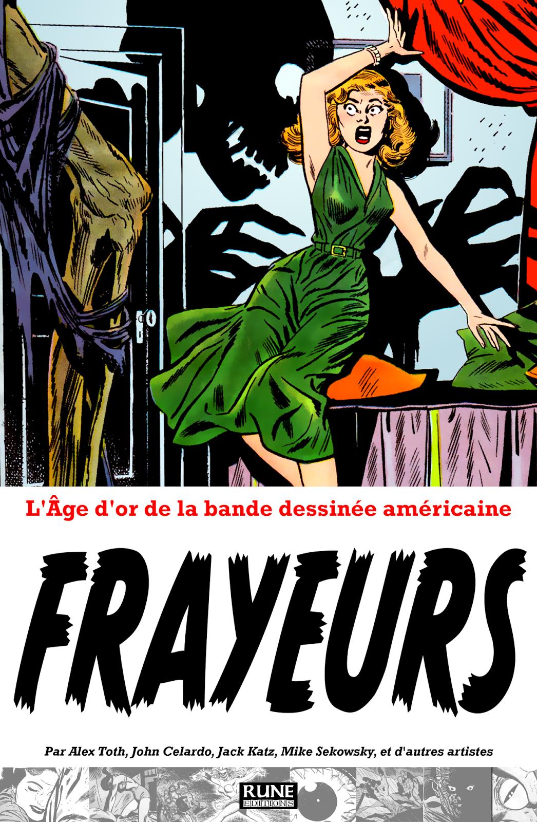 L'ÂGE D'OR DE LA BANDE DESSINÉE AMÉRICAINE - FRAYEURS Couverture-FRAYEURS