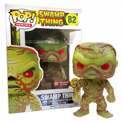 Previews Exclusive DC Comics Glow in the Dark Swamp Thing Pop! Heroes Vinyl Figure by Funko