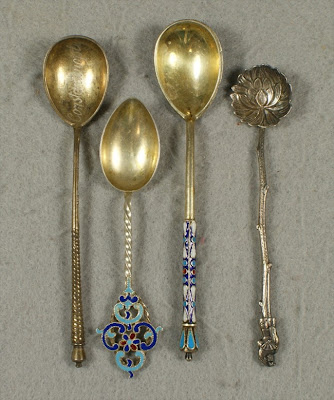 russian silver spoon