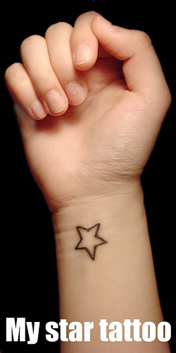 star tattoos on wrist