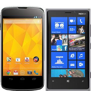 Compare LG Nexus 4 vs Nokia Lumia 920 harga dan spesifikasi, Compare LG Nexus 4 vs Nokia Lumia 920 price and specs, images-pictures tech specs of Compare LG Nexus 4 vs Nokia Lumia 920