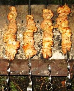 Шашлык из свинины (маринад на основе уксуса)