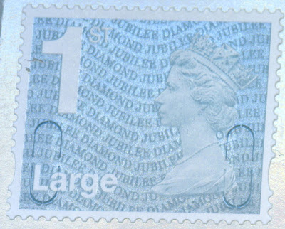1st class Large Letter Diamond Jubilee Counter Sheet stamp.