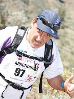Armando durante la Arretranco Race 2012