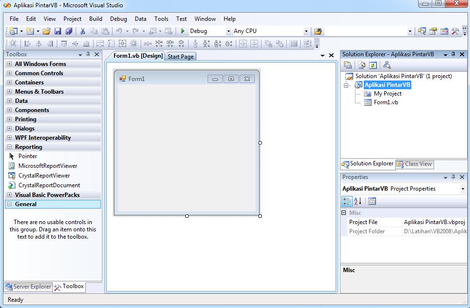Koneksi Database Dengan Module VB 2008 - Pintar VB