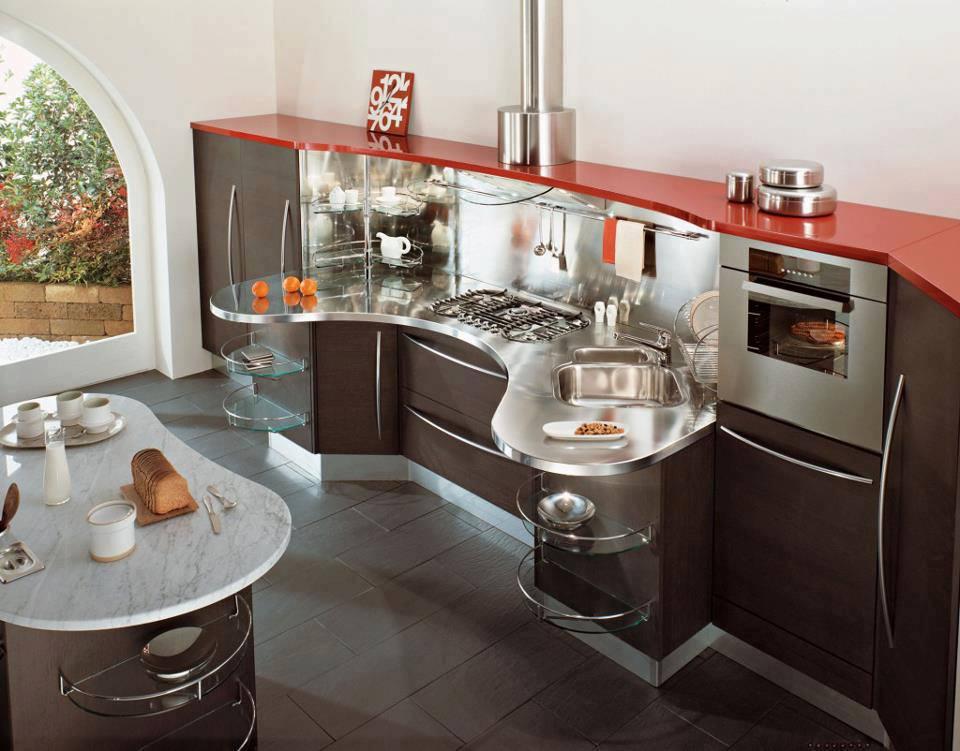 Construindo minha casa clean cozinhas vermelhas lindas for Latest kitchen design ideas