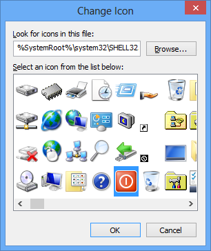 select any icon
