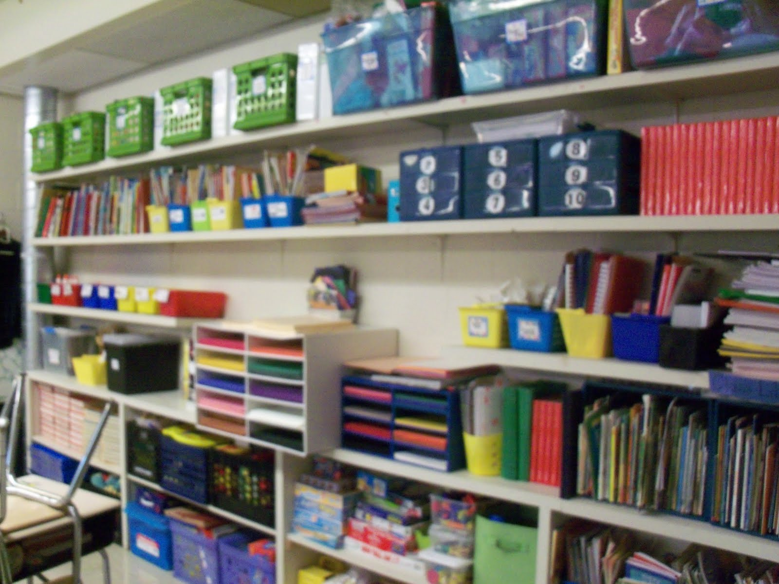 Second grade sidekicks earthquake and my classroom pics this is my wall of shelves quite challenging to look at the open shelves all day and we cant cover them with fabric or curtains amipublicfo Image collections