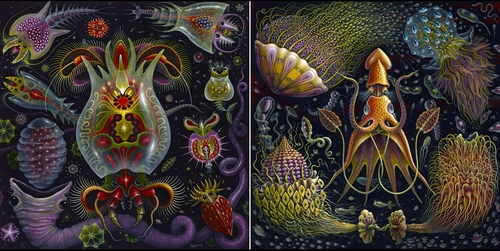 00-Robert-S-Connett-Paintings-of-Colorful-Sea-Creature-Wolds-www-designstack-co
