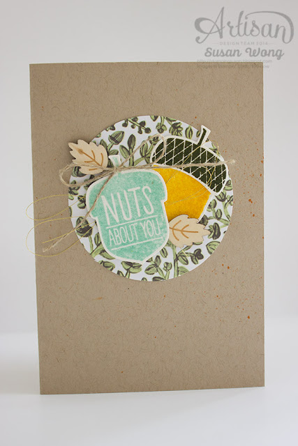 "Acorny Thank You ""Nuts About You"" Card ~ Susan Wong"
