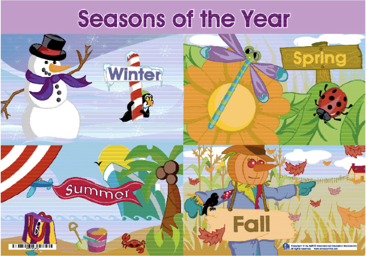 4 seasons of the year drawing
