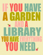 un jardín...