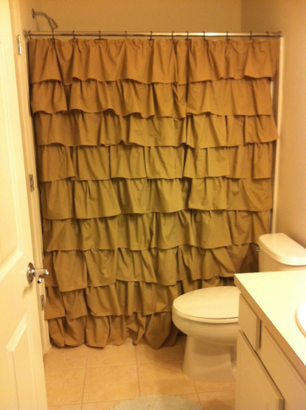 Diy ruffled shower curtain -  10 Diy Ruffle Shower Curtain