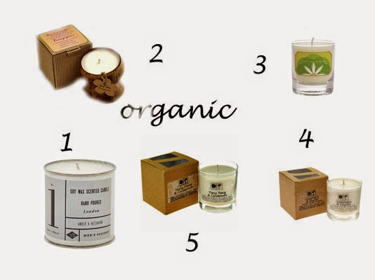 organic scented candles