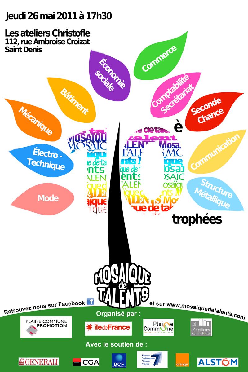 Concours affiche Mosaïque de Talents